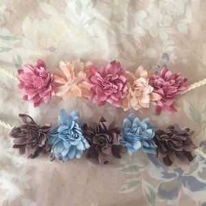 New Free People flower headbands hippie bohemian